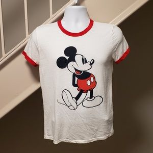 Mickey Mouse Small Ladies Ringer T-Shirt